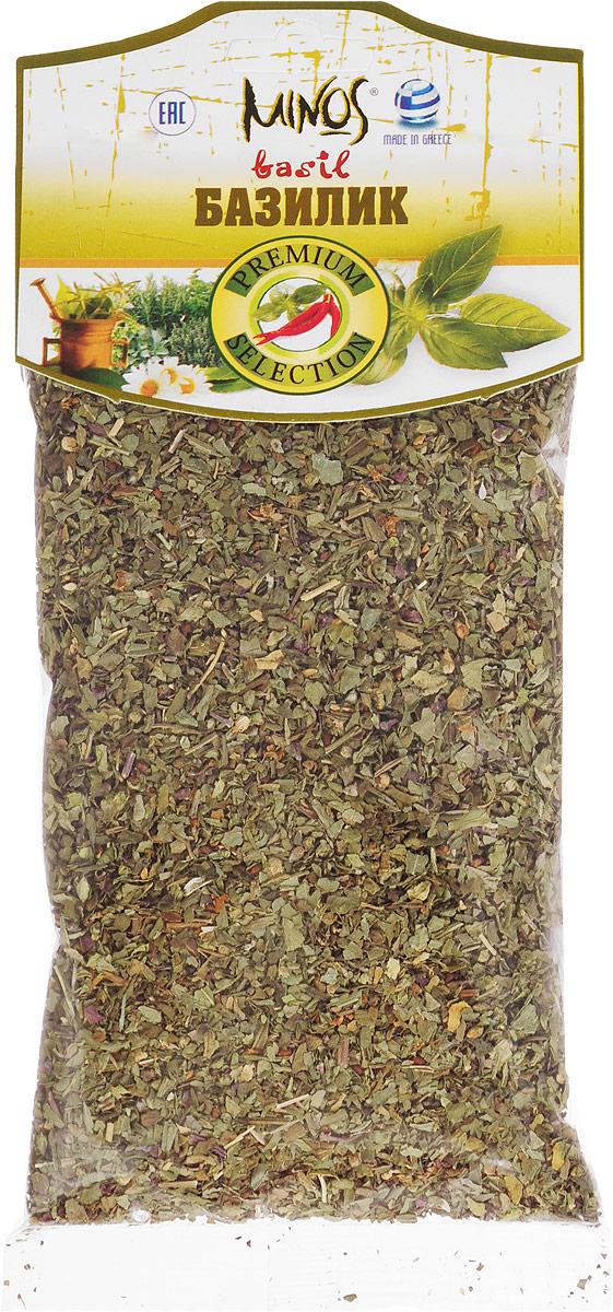 Minos Базилик, 40 г0120710Базилик Minos содержит от 0,2% до 1,5% эфирного масла сложного состава, сахара, каротин, витамины С, В2, РР, рутин. Обладает бактерицидным действием, положительно влияет на пищеварительную систему, отвар листьев базилика используют при кашле, для полосканий. В кулинарии сушеный базилик применяют в качестве пряности для овощных и мясных и рыбных блюд, блюд из бобовых, салатов и омлетов.Базилик используется для приготовления соусов, кетчупов и заправок. В пищевой промышленности базилик применяют для ароматизации мясных изделий, для изготовления ликеров (калоризатор). Базилик наиболее популярен в итальянской и закавказской кухне. В сочетании с розмарином сушеные листья базилика используют вместо перца.