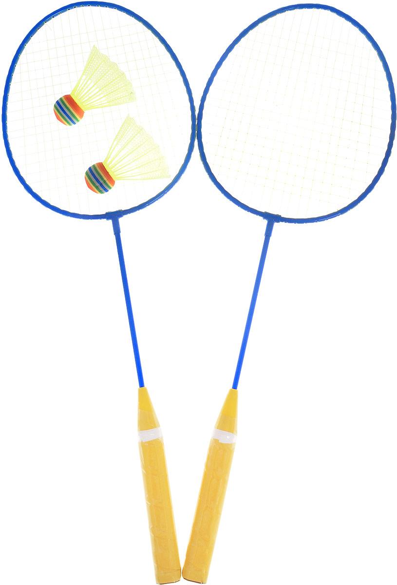 Abtoys Игровой набор Бадминтон цвет синий желтый S-00054