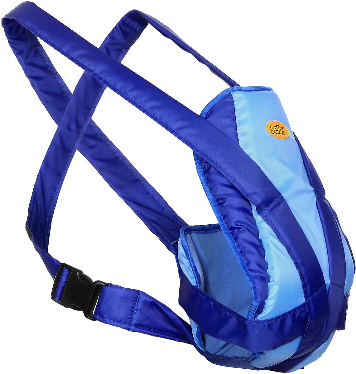 Selby Рюкзак-кенгуру Классик цвет голубой синий