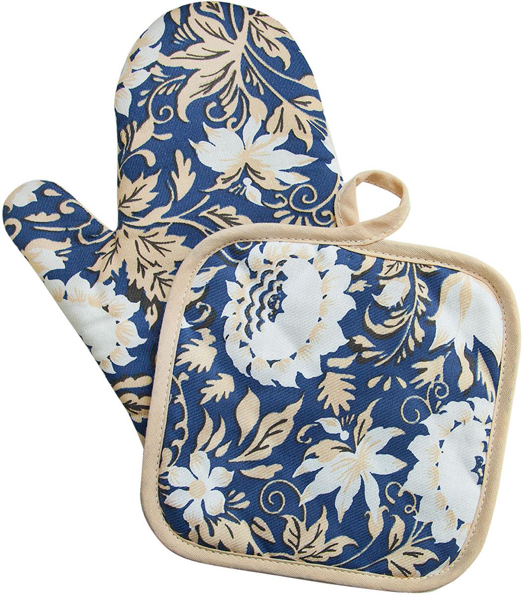 Набор прихваток Bonita Белые росы, 2 предмета96515412Набор Bonita Белые росы состоит из прихватки-рукавицы и квадратной прихватки. Изделия выполнены из натурального хлопка и декорированы оригинальным рисунком. Прихватки простеганы, а края окантованы. Оснащены специальными петельками, за которые их можно подвесить на крючок в любом удобном для вас месте. Такой набор красиво дополнит интерьер кухни.