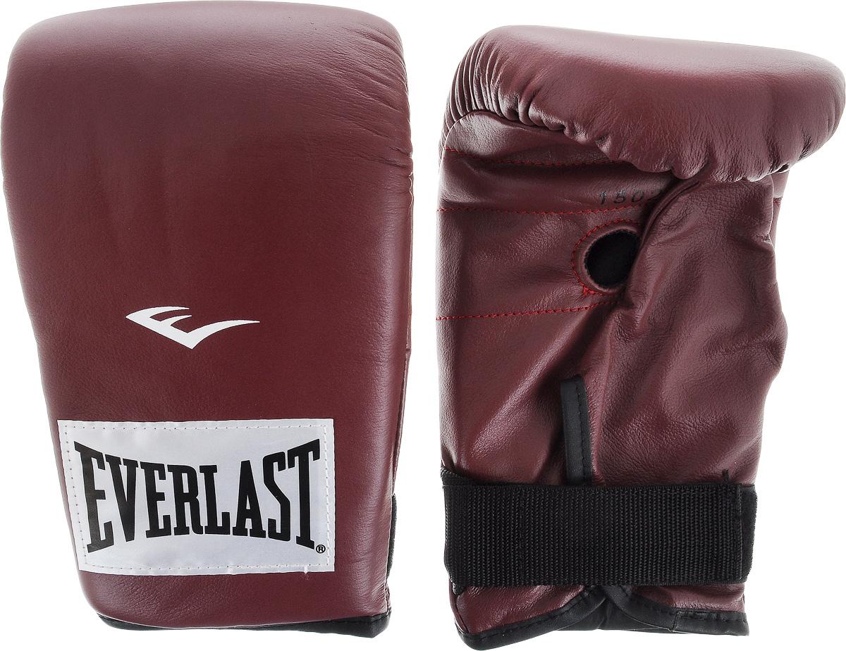 Перчатки снарядные Everlast, профессиональные, цвет: бордовый, белый. Размер XLAIRWHEEL Q3-340WH-BLACKПара снарядных перчаток Everlast для работы на тяжелых мешках выполнена из натуральной кожи высшего качества и оснащена удобной застежкой. Плотный пенный наполнитель и вес идеален для разминок с мешком. Хлопковый лайнер обеспечивает комфорт руки внутри перчатки.