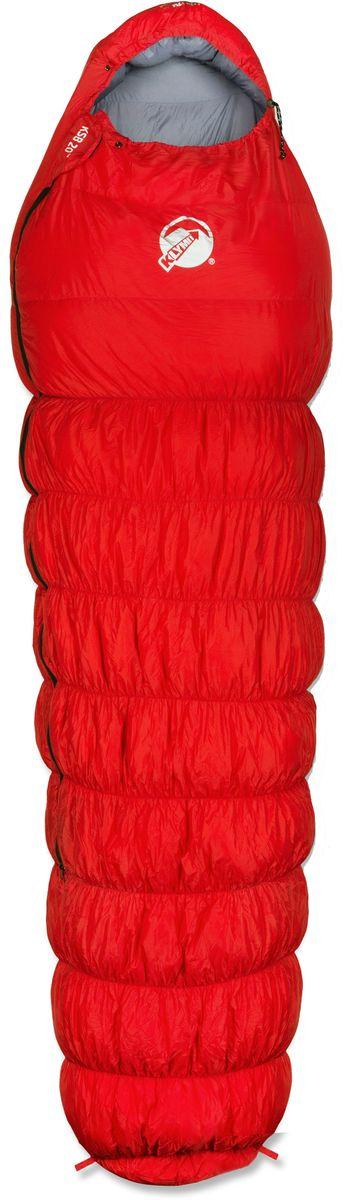 Спальный мешок Klymit KSB20°, цвет: красный, правосторонняя молния13KBRD01CТуристический спальный мешок для экстремальных походов, альпинизма, экспедиций и восхождений лайт-туристов. Температура комфорта: -7°С (3 сезона). Материал подкладки: нейлон 20D. Утеплитель: утиный пух. Размеры: длина – 214,6 см, обхват – 80 см, ширина – 55,1 см. В сложенном виде: 33 х 21,6 см. Цвет верха – красный, подкладки – серый. Вес – 1,25 кг. Гарантия- пожизненная.