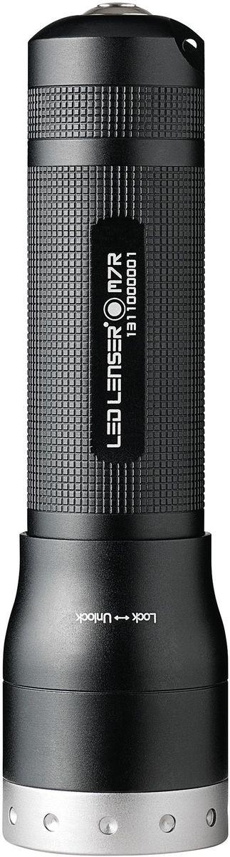 Фонарь LED Lenser M7R, цвет: черный. 8307-R22618Фонарь повышенной яркости. Аккумуляторный. Инновационная система – Smart Light Technology – возможность подбора каждым пользователем удобных для себя режимов изменения свечения. Световой поток- 400 лм. Время свечения в экономичном режиме - 40 часов. Длина - 153 мм. Вес - 200 г. Питание - 1 х ICR18650 (аккумулятор, в комплекте). Зарядное устройство (в комплекте) позволяет заряжать фонарь как от сети 220В, так и через USB-порт персонального компьютера. Количество светодиодов - 1. Эффективная дальность свечения – до 280 м. Система AFS. Комплект (фонарь и зарядное устройство) упакован в пластиковый кейс для переноски.