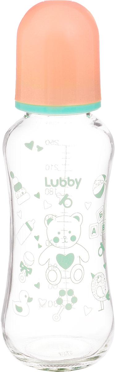 Lubby Бутылочка для кормления с силиконовой соской Малыши и Малышки от 0 месяцев 250 мл