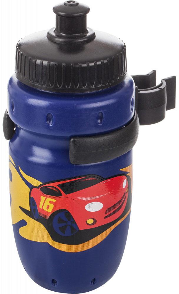 Фляга велосипедная Cyclotech, цвет: синий, 350 мл1508160Детская питьевая фляга с держателем. Крепится на руль. Выполнена из пищевого пластика. Объем 350 мл.