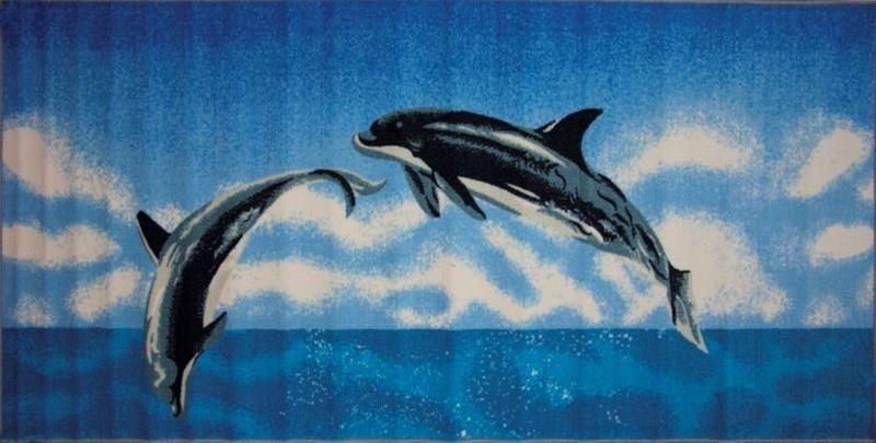 Ковер МАС Розетта. Дельфин, 100 х 200 см15937/дельфинВлагонепроницаемый коврик на резиновой основе подойдет для любого интерьера в гостиной, ванной или прихожей. Легко моется и чистится.