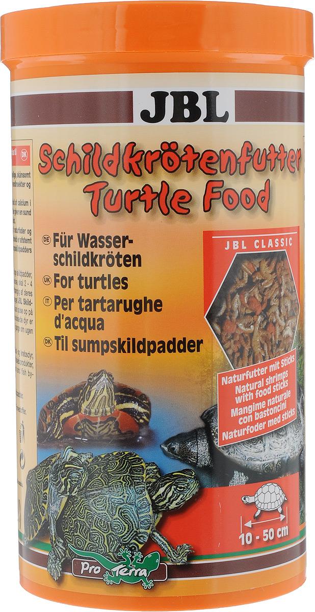 Корм JBL Schildkroetenfutter, для черепах, 120 гJBL7036400JBL Schildkroetenfutter - основной корм для черепах. Это сбалансированная смесь из сушеных рачков, насекомых и рыбных палочек. Подходит для всех водных черепах и болотных черепах умеренных широт. Можно использовать в качестве подкормки для тропических болотных черепах, птиц и других плотоядных обитателей террариума. Корм тщательно очищен, не загрязняет воду. Благодаря высокому природному содержанию кальция во всех рачках обеспечивает снабжение черепах кальцием, необходимым для роста их панциря. Товар сертифицирован.