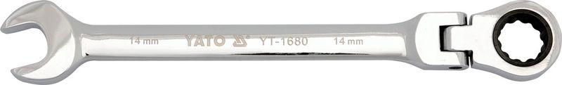 Ключ комбинированный Yato CrV, с трещоткой и шарниром, 10 ммYT-1676Ключ комбинированный YATO с трещоткой и шарниром, размер 10 мм, изготовлен из инструментальной стали CrV.