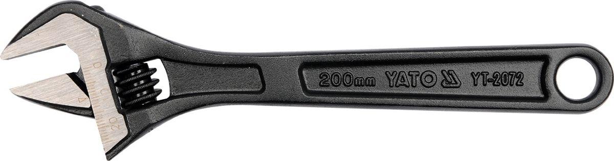 Ключ разводной Yato, 6YT-2071Ключ разводной YATO 6, длина 150 мм, максимальный развод губок - 19 мм. Изготовлен из углеродистой стали.