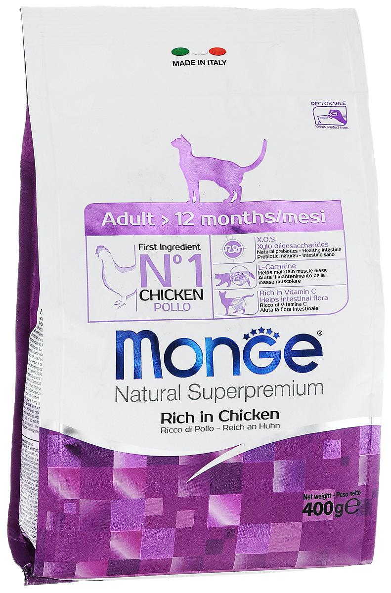 Корм сухой Monge для взрослых кошек, 400 г70004985Сухой корм Monge - это полноценный, очень вкусный и высоко усваиваемый корм для домашних и уличных кошек возрастом от 1 до 10 лет. Оптимальное соотношение между жировыми кислотами Омега-3 и Омега-6 противодействует воспалительным процессам и аллергическим реакциям. Помогает поддерживать остроту зрения вашей кошки и здоровое сердце. Также богат витамином С и ингредиентами которые гарантируют превосходный баланс кишечной флоры. Соответствующее соотношение кальция и фосфора гарантирует гармоничное развитие скелета и зубов. Также корм содержит L- карнитин, предотвращающий накопление жира и защищающий работу печени и сердца. Состав: куриное мясо (свежее мин. 10%, обезвоженное мин. 35%), кукурузный глютен, кукуруза, рис, куриное масло, свекольный жом, масло лосося, дрожжи, яичный крахмал, Юкка Шидигера, фруктоолигосахариды 336 мг/кг, маннан-олигосахариды 336 мг/кг. Анализ: протеин 33%, масла и жиры 16%, сырая клетчатка 3%, сырая зола 8%, магний 0,15%, кальций 1,79%, фосфор...