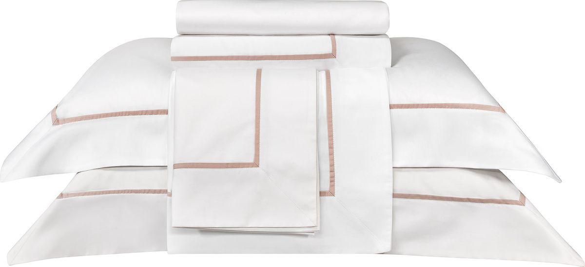 Наволочка Togas Плаза, 70х70 см, цвет: белый, розовый, 2 шт30.08.38.0065