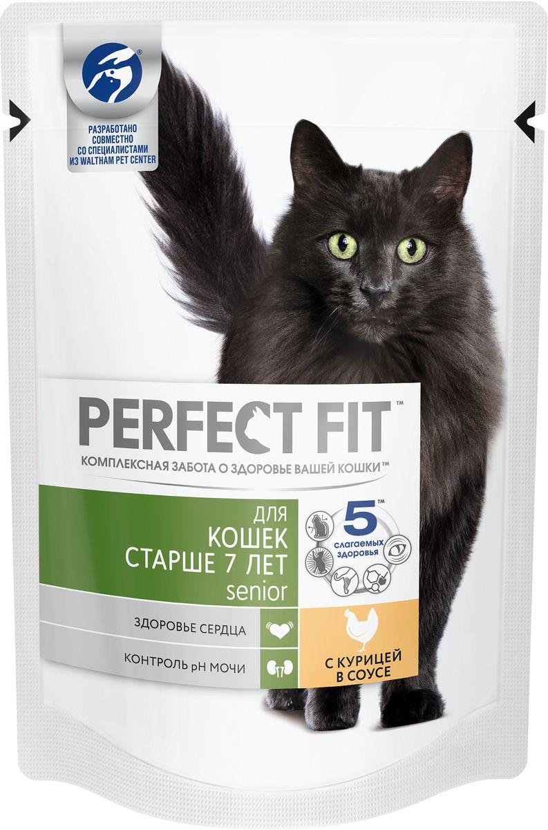 Консервы Perfect Fit, для пожилых кошек, с курицей, 85 г42746