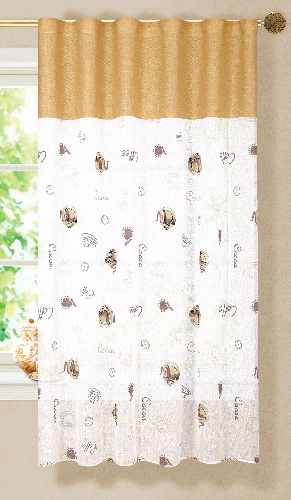 Штора Garden, на ленте, тюлевая, цвет: белый, 150х180 см. С 6333 - W1887 - W1222 V6С 6333 - W1887 - W1222 V6Изящная штора Garden для кухни выполнена из ткани с оригинальной структурой, приятная расцветка привлечет к себе внимание и органично впишется в интерьер помещения. Штора крепится на карниз при помощи ленты, которая поможет красиво и равномерно задрапировать верх.