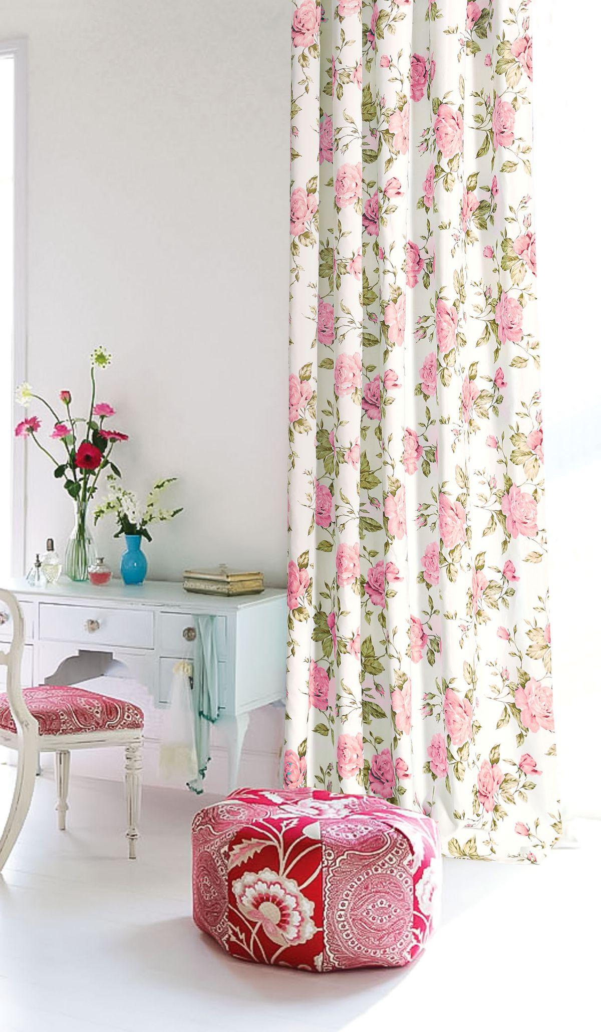 Штора готовая Garden, на ленте, цвет: розовый, 200х260 см. С 9184 - W1687 V2110503Изящная штора для гостиной Garden выполнена из плотной ткани. Приятная текстура и цвет привлекут к себе внимание и органично впишутся в интерьер помещения. Штора крепится на карниз при помощи ленты, которая поможет красиво и равномерно задрапировать верх.