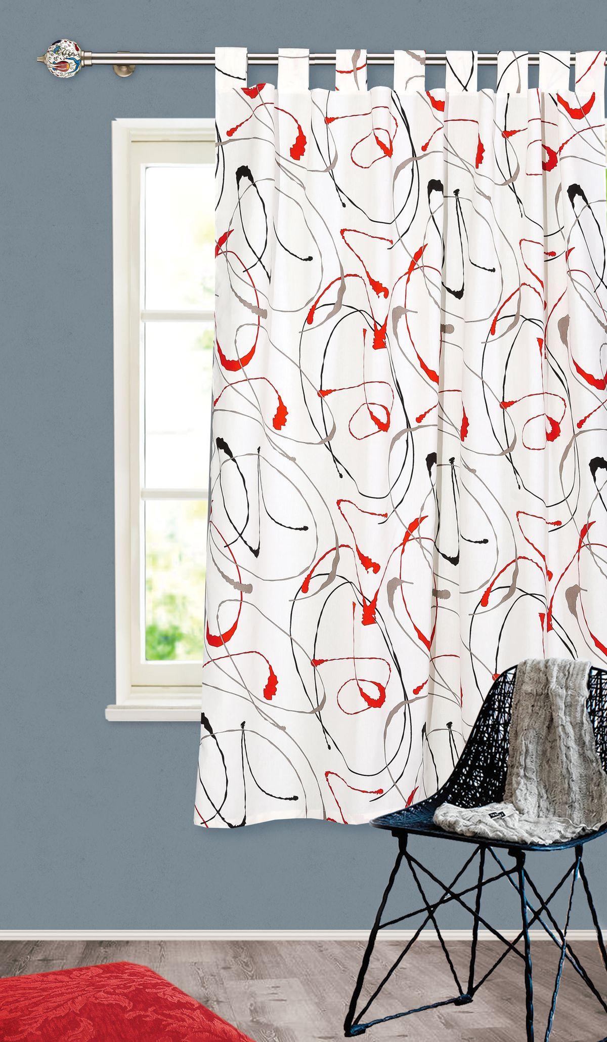 Штора готовая Garden, на петлях, цвет: белый, 140х180 см. С 4342 - W1687 140х180 V31С 4342 - W1687 140х180 V31Штора для кухни Garden выполнена из плотной ткани с рисунком. Приятная текстура материала и яркая цветовая гамма привлекут к себе внимание и станут великолепным украшением кухонного окна. Штора крепится на карниз при помощи петель, которая поможет красиво и равномерно задрапировать верх.