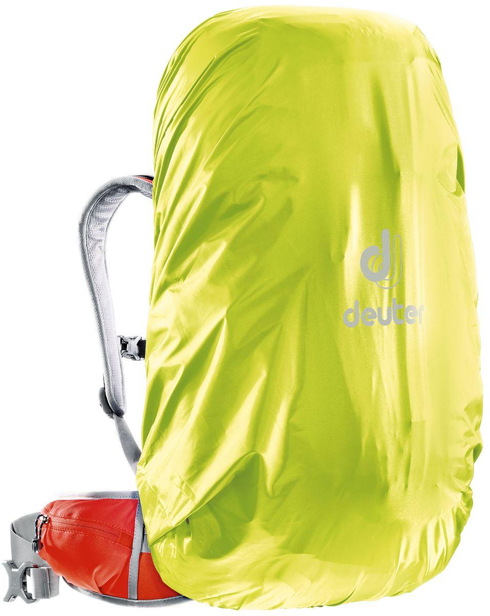 Чехол для рюкзака Deuter Raincover II, от дождя, цвет: желтый, 30-50 л800802Чехол от дождя Deuter Raincover II яркого неонового цвета гарантирует, что ваш рюкзак и его содержимое останется сухим даже после проливного дождя. Отличная влагозащита благодаря полиуретановому покрытию и швам, проклеенным лентой.Материал: Taffeta-Nylon.Вес: 90 г. Объем: 30-50 л. Размеры: 69 х 30 х 27 см.