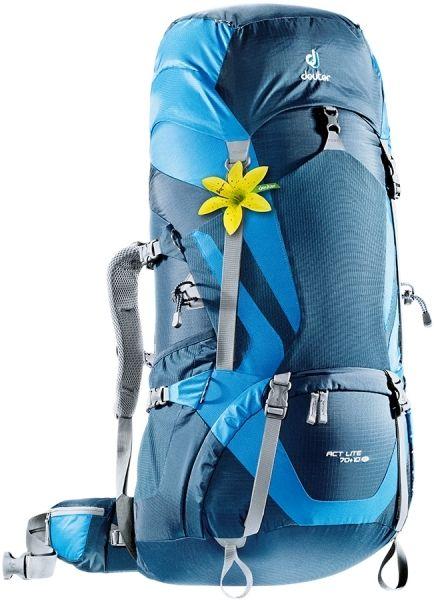 Рюкзак Deuter ACT Lite 70+10 SL, цвет: синий, темно-синий, 70 л4340215_3980Надежный вместительный рюкзак для путешествий и экспедиций: Совершенная подвеска с комфортной спинкой, прямой доступ в основное отделение – сочетание комфорта и функциональности. Благодаря подвижным набедренным крыльям Vari Flex, системе спинки Vari Quick и каркасу X-Frames, одна и та же система подвески подходит к любым грузам от средних до тяжёлых, оставаясь устойчивой, гибкой и эффективно распределяющей нагрузку. Система Aircontact с продуманной эргономичной системой подушек спинки очень хорошо сидит на спине и обеспечивает отличную вентиляцию со всех сторон. Модели SL разработаны специально для людей невысокого роста. - экономия энергии и комфорт, благодаря анатомическому подвижному набедренному поясу Vari Flex, отслеживающему любое ваше движение - компрессионные ремни на набедренных крыльях для точной регулировки положения груза - поясная застёжка Pull-Forward легко регулируется даже под тяжёлым грузом - прочный сотовый алюминиевый X-образный каркас передает...