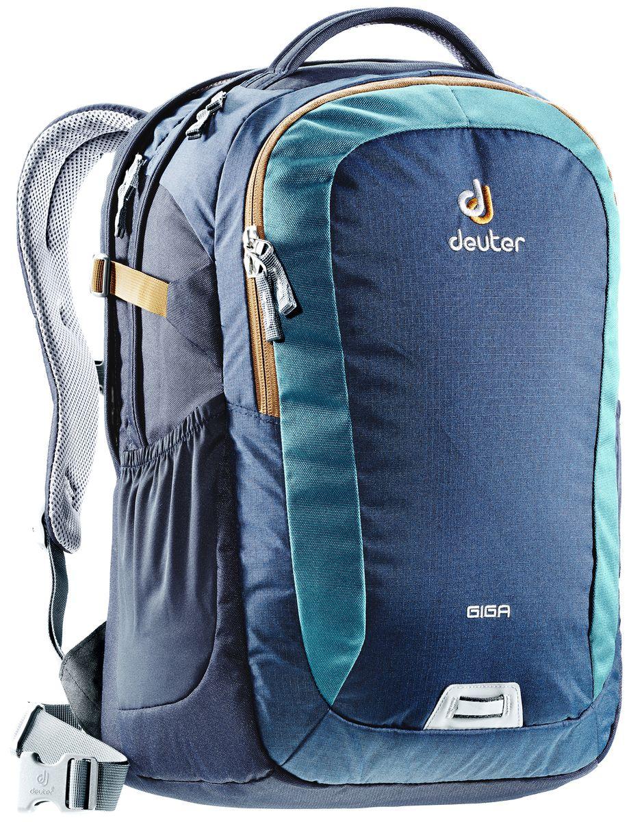 Рюкзак Deuter Giga, цвет: коричневый, темно-синий, 28 л городской рюкзак с отделением для ноутбука deuter giga 28 л черный 80414 7000