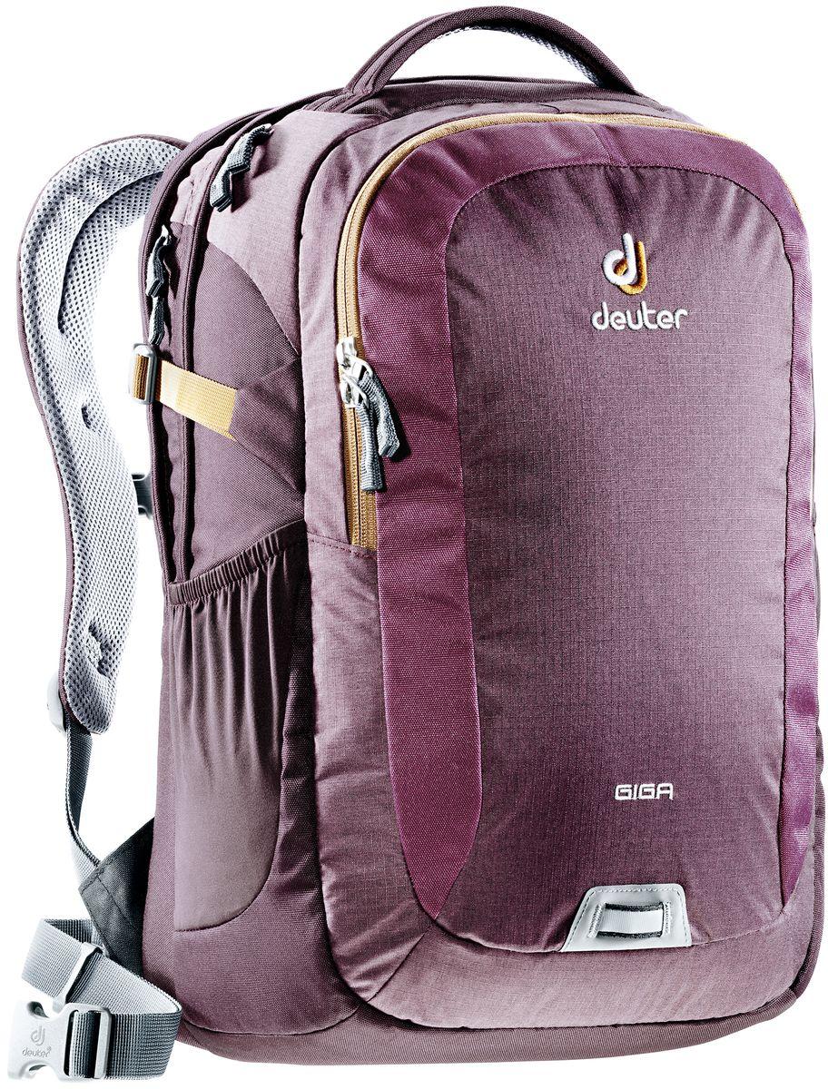 Рюкзак Deuter Giga, цвет: коричневый, фиолетовый, 28 л городской рюкзак с отделением для ноутбука deuter giga 28 л черный 80414 7000