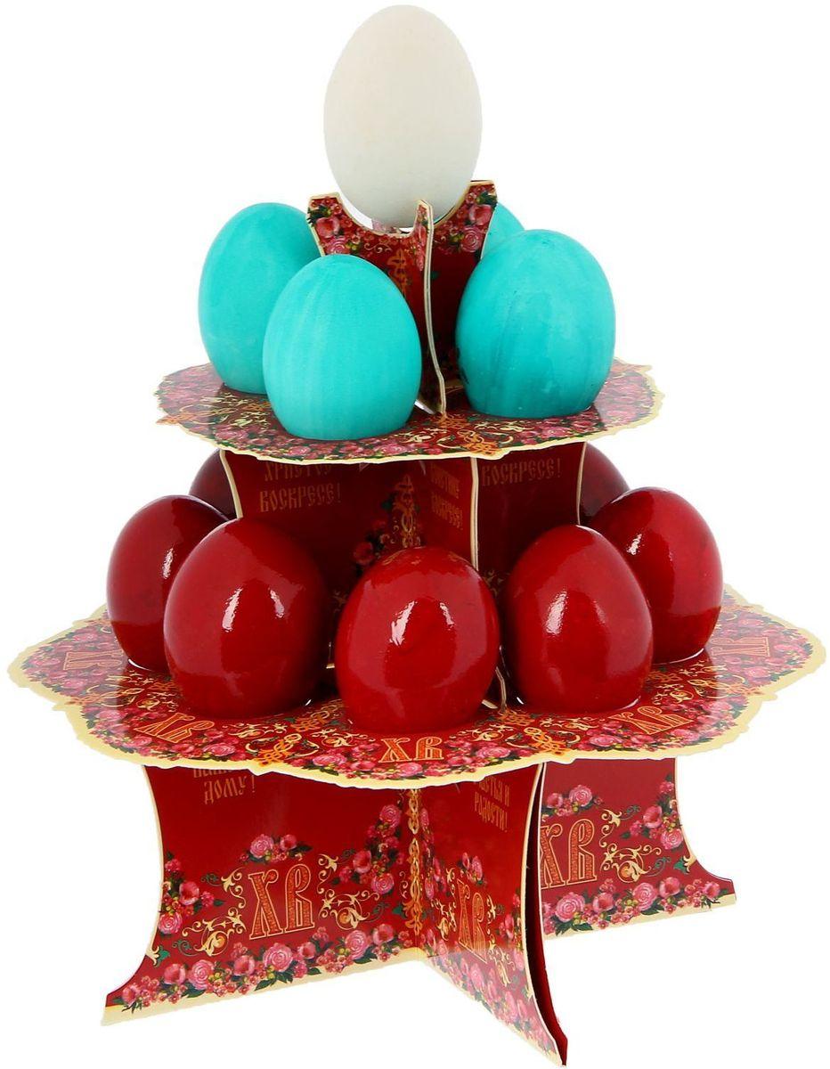 Подставка пасхальная ХВ. Классика, на 12 яиц, 19,8 х 19,8 см. 12118111211811От хорошей кухонной утвари зависит половина успеха вкусного блюда. Чтобы еда была вкусной, важно ее правильно приготовить и сервировать. Подставка пасхальная со скретч-слоем на 12 яиц поможет вам в этом деле.