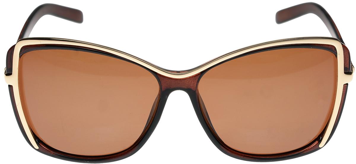 Очки солнцезащитные женские Vittorio Richi, цвет: коричневый. ОС051272c320-90-1/17fОС051272c320-90-1/17fОчки солнцезащитные Vittorio Richi это знаменитое итальянское качество и традиционно изысканный дизайн.