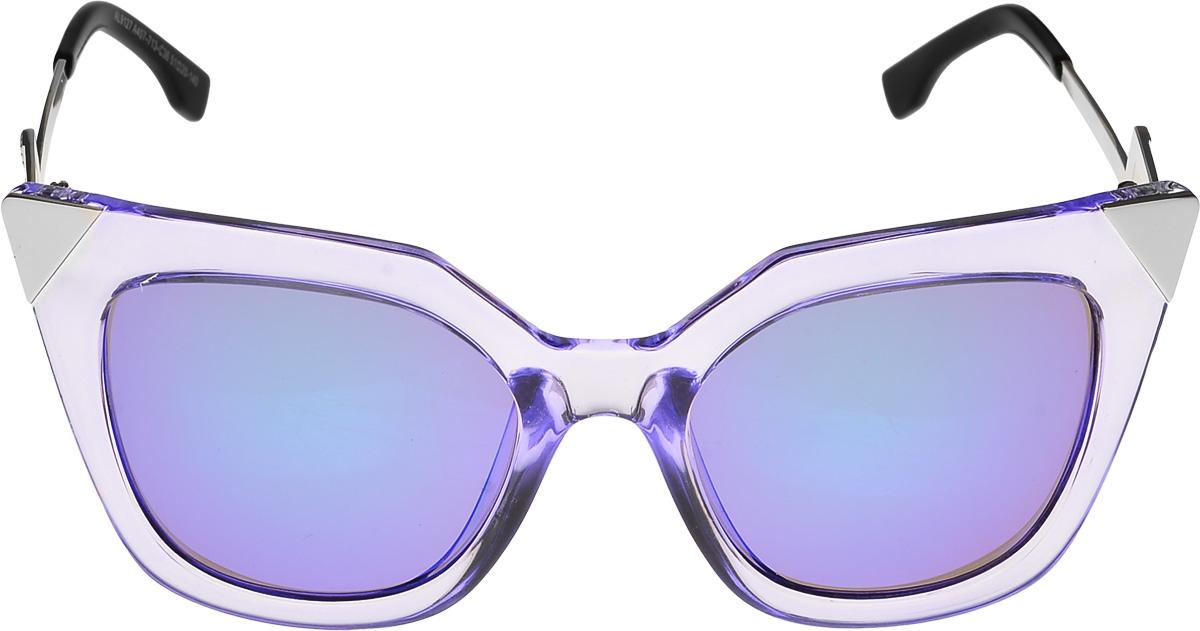 Очки солнцезащитные женские Vittorio Richi, цвет: прозрачный, синий. ОС9127439-712-5/17fОС9127439-712-5/17fОчки солнцезащитные Vittorio Richi это знаменитое итальянское качество и традиционно изысканный дизайн.