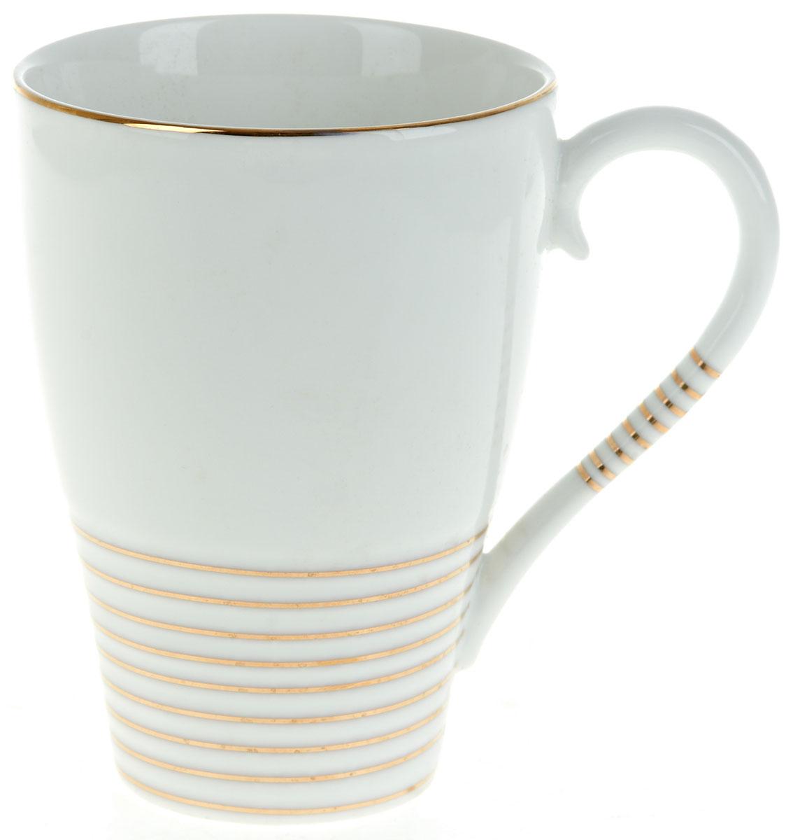 Кружка BHP Грация, 430 млM1490111Оригинальная кружка Best Home Porcelain, выполненная из высококачественного фарфора, сочетает в себе простой, утонченный дизайн с максимальной функциональностью. Оригинальность оформления придутся по вкусу тем, кто ценит индивидуальность. В комплект входит кружка. Можно использовать в ПММ.