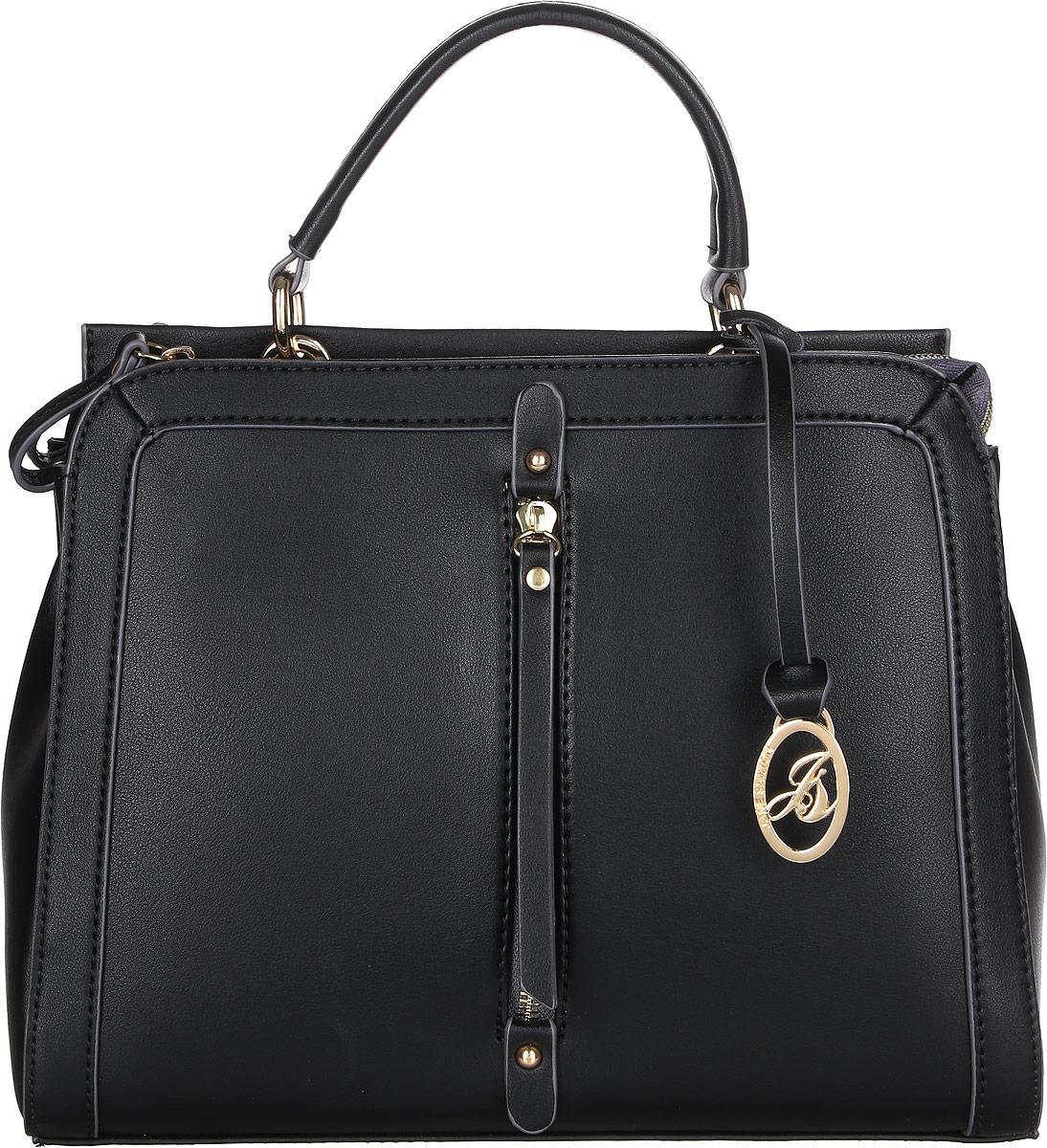 Сумка женская Jane Shilton, цвет: черный. 23373-47670-00504Стильная сумка Jane Shilton выполнена из искусственной кожи. Модель на одной ручке и съемном регулируемом ремне. Два отделения, каждое закрывается на молнию. Внутри одного кармашек на молнии, а внутри другого кармашек для мобильного телефона. Сзади прорезной карман на молнии.