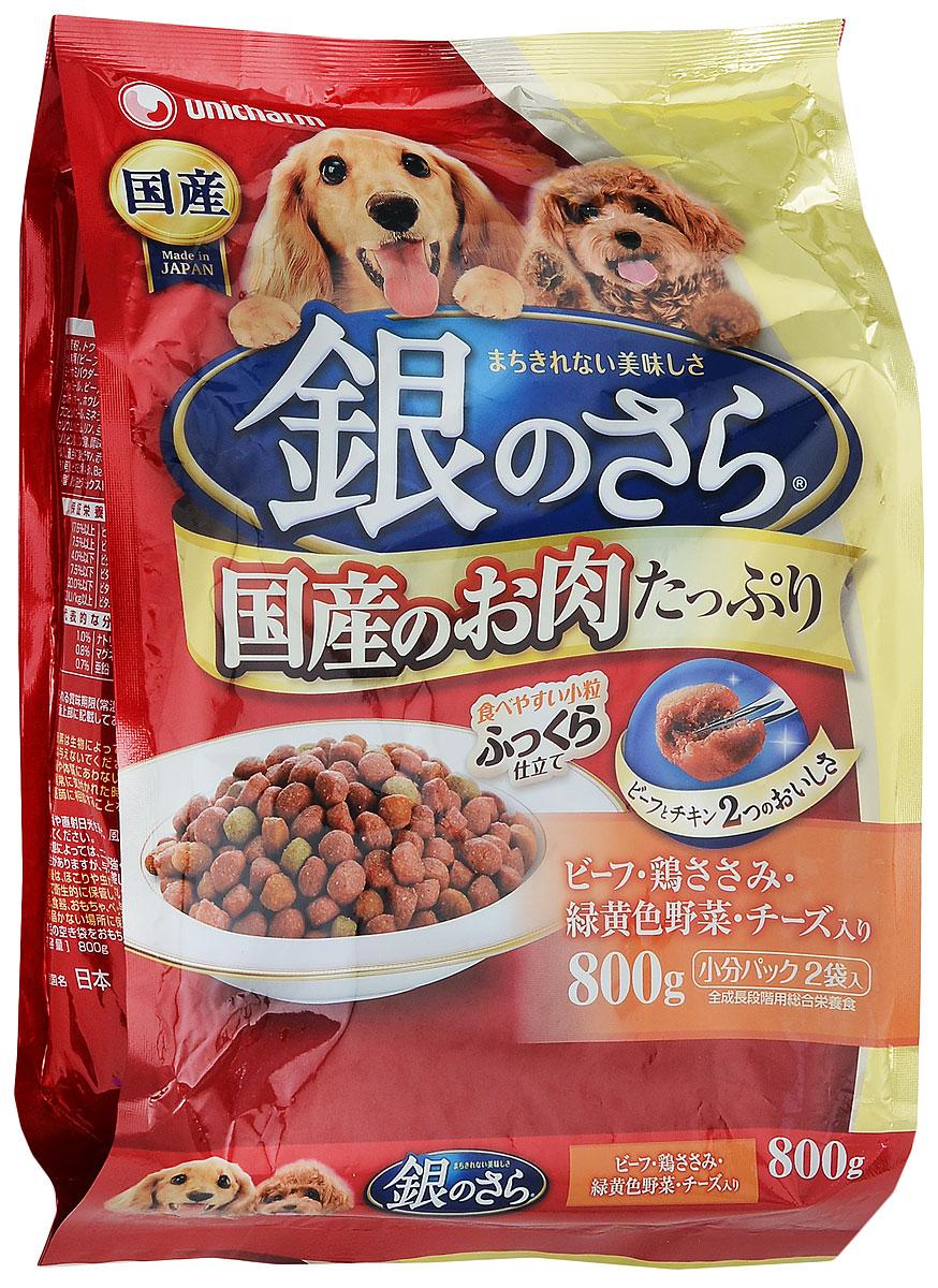"""Unicharm Корм сухой Unisharm """"Silver Plate"""" для собак, с говядиной, курицей, овощами и сыром, 800 г 686058"""