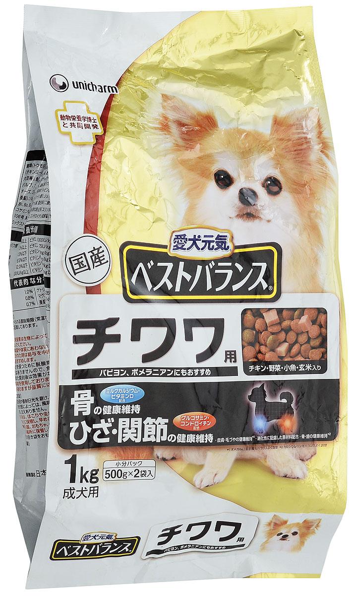 Корм сухой Unicharm The Best Balance для собак породы чихуахуа, папийон, 1 кг0120710Сбалансированный сухой корм Unicharm The Best Balance для собак мелких пород (чихуахуа, папийон) - это полнорационное питание для вашего любимца. Ароматные маленькие крокеты понравятся даже самой привередливой собаке. Корм содержит все необходимые витамины и минералы для поддержания здоровья крошечного питомца, обогащен специальными компонентами для безопасного пищеварения и укрепления естественного иммунитета. Для лучшего усвоения кальция в состав продукта входит витамин D, что немаловажно в поддержании здоровья костей и зубов собак мелких пород. Глюкозамин и хондроитин защищают хрящи и суставы животного. Сочетание ценных жирных кислот Омега-6 и Омега-3 обеспечивает здоровое состояние кожи и шерсти вашего питомца.Товар сертифицирован.