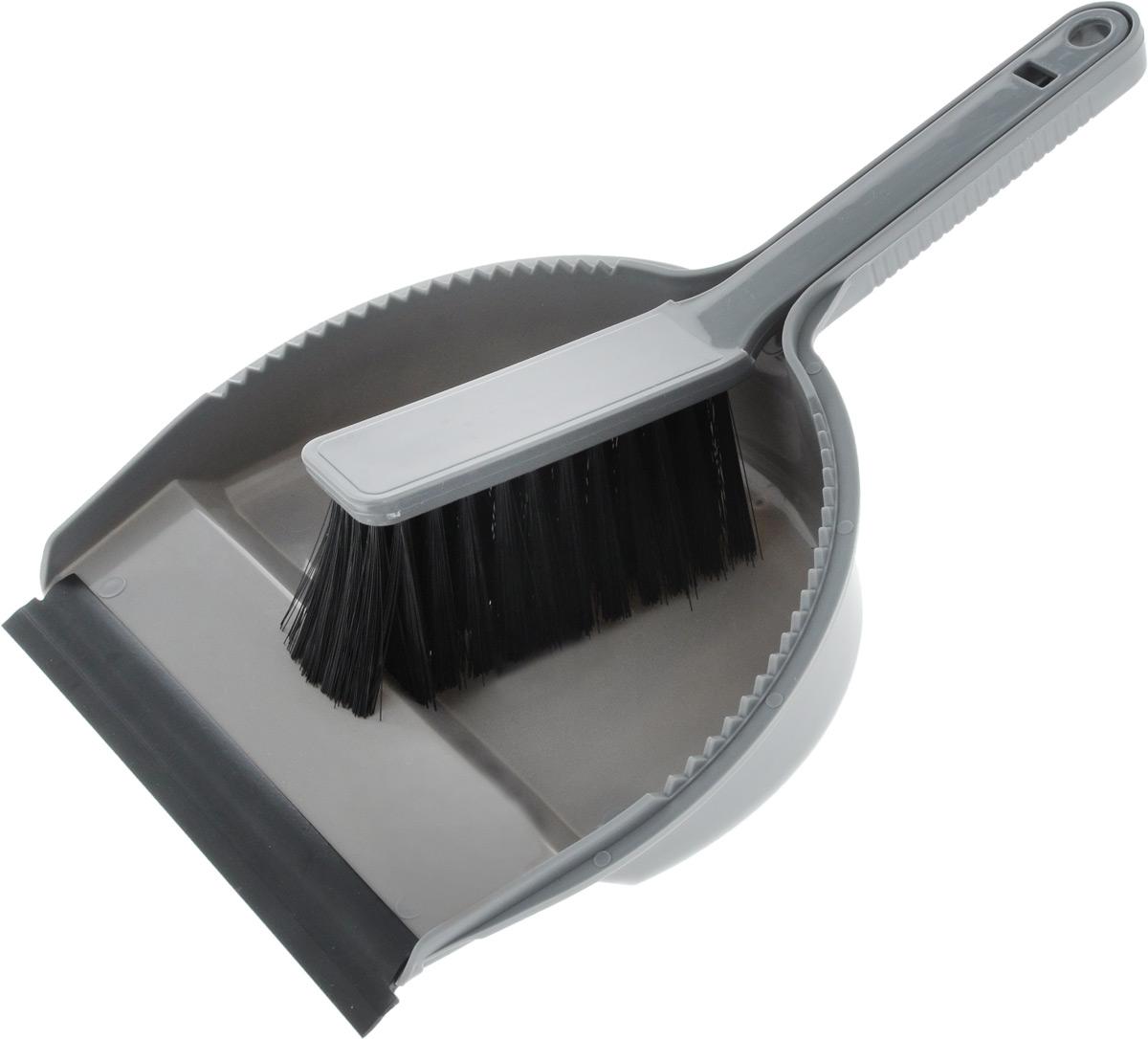 Набор для уборки Svip Лаура, с кромкой, цвет: серебряный, 2 предметаSV3026СБНабор для уборки Svip Клио, состоит из щетки-сметки и совка, выполненных из полипропилена. Он станет незаменимым помощником в деле удаления пыли и мусора с различных поверхностей. Ворс щетки достаточно длинный, что позволяет собирать даже крупный мусор. Края совка оснащены зубчиками для чистки щетки после ее использования. Совок имеет резиновую кромку,благодаря которой удобнее собирать мусор. Ручка совка позволяет прикреплять его к рукоятке щетки. На рукояти изделий имеется специальное отверстие для подвешивания. Длина щетки-сметки: 25,2 см. Длина ворса: 5,5 см. Размер рабочей поверхности совка: 18,5 х 19 см. Размер совка (с учетом ручки): 33 х 19 х 6 см.