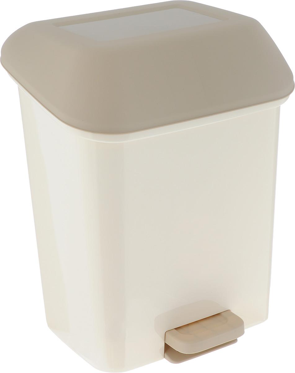 Контейнер для мусора Svip Квадра, с педалью, цвет: кофейный, 15 л10503Мусорный контейнер Svip Квадра поможет поддержать порядок и чистоту на кухне, в туалетнойкомнате или в офисе. Изделие, выполненное из полипропилена, не боится ударов и долгих летиспользования. Практичный контейнер для мусора оснащен удобной педалью, с помощью которой можно открытькрышку. Закрывается крышка практически бесшумно,плотно прилегает, предотвращая распространение запаха. Эстетика изделия превращает необходимый предмет кухни или туалетной комнаты в стильноедополнение к интерьеру. Его легкость и прочность оптимально решают проблему сбора мусора.