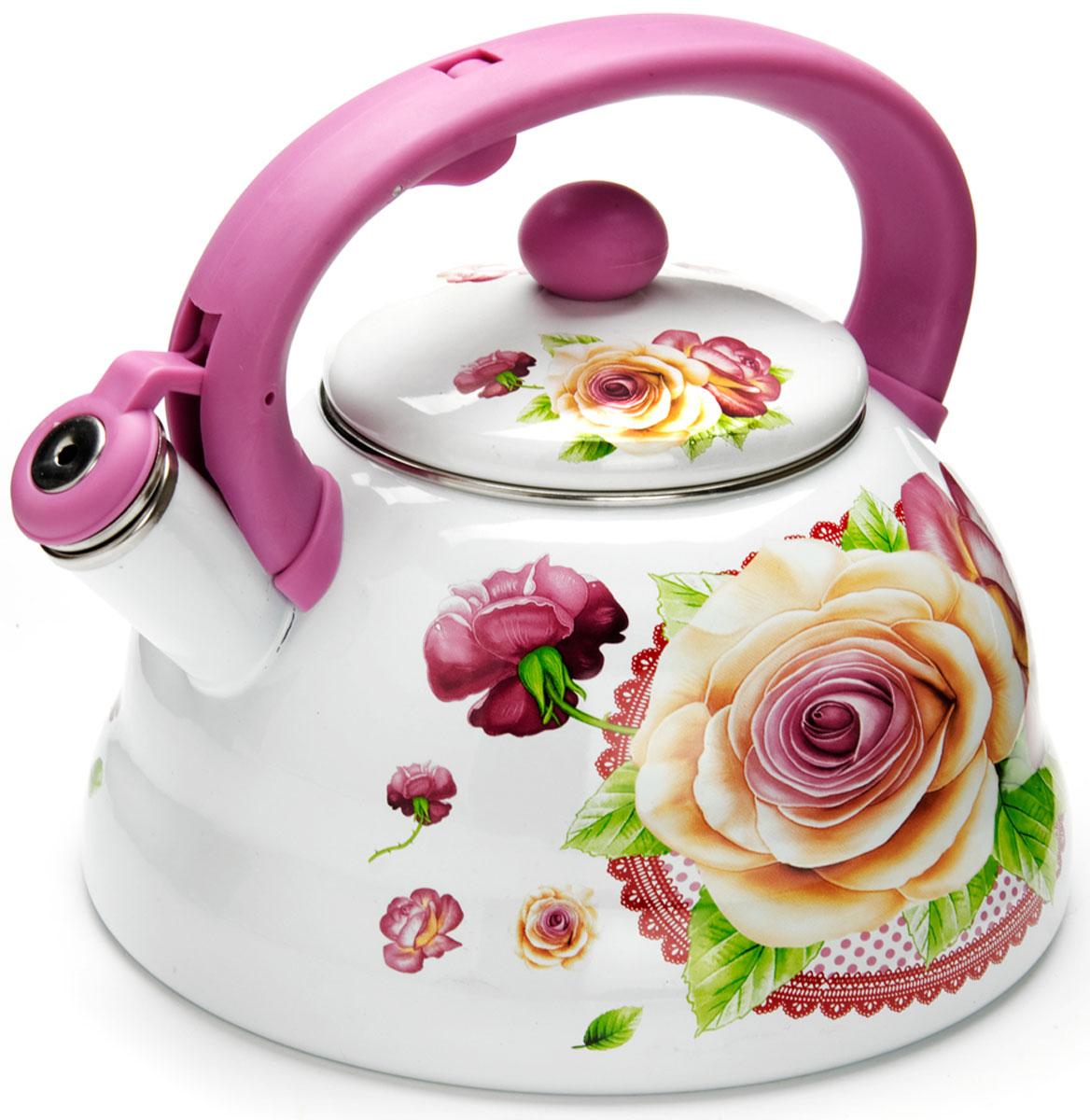 Чайник Mayer & Boch Розы, со свистком, 3 л. 2625626256
