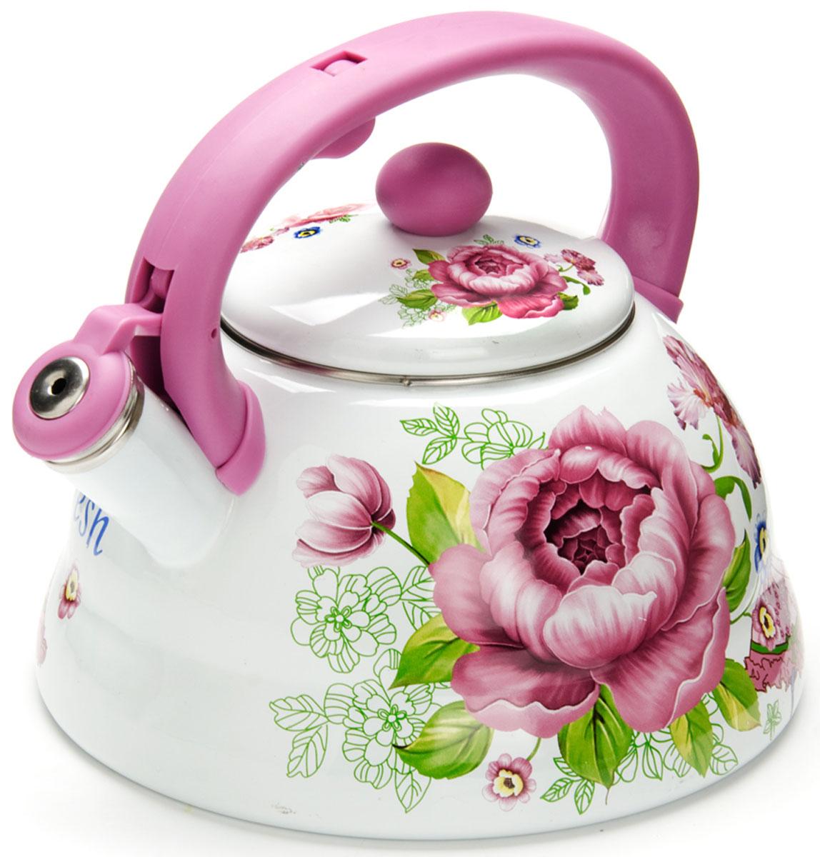 Чайник Mayer & Boch Розы, со свистком, 3 л. 2625726257
