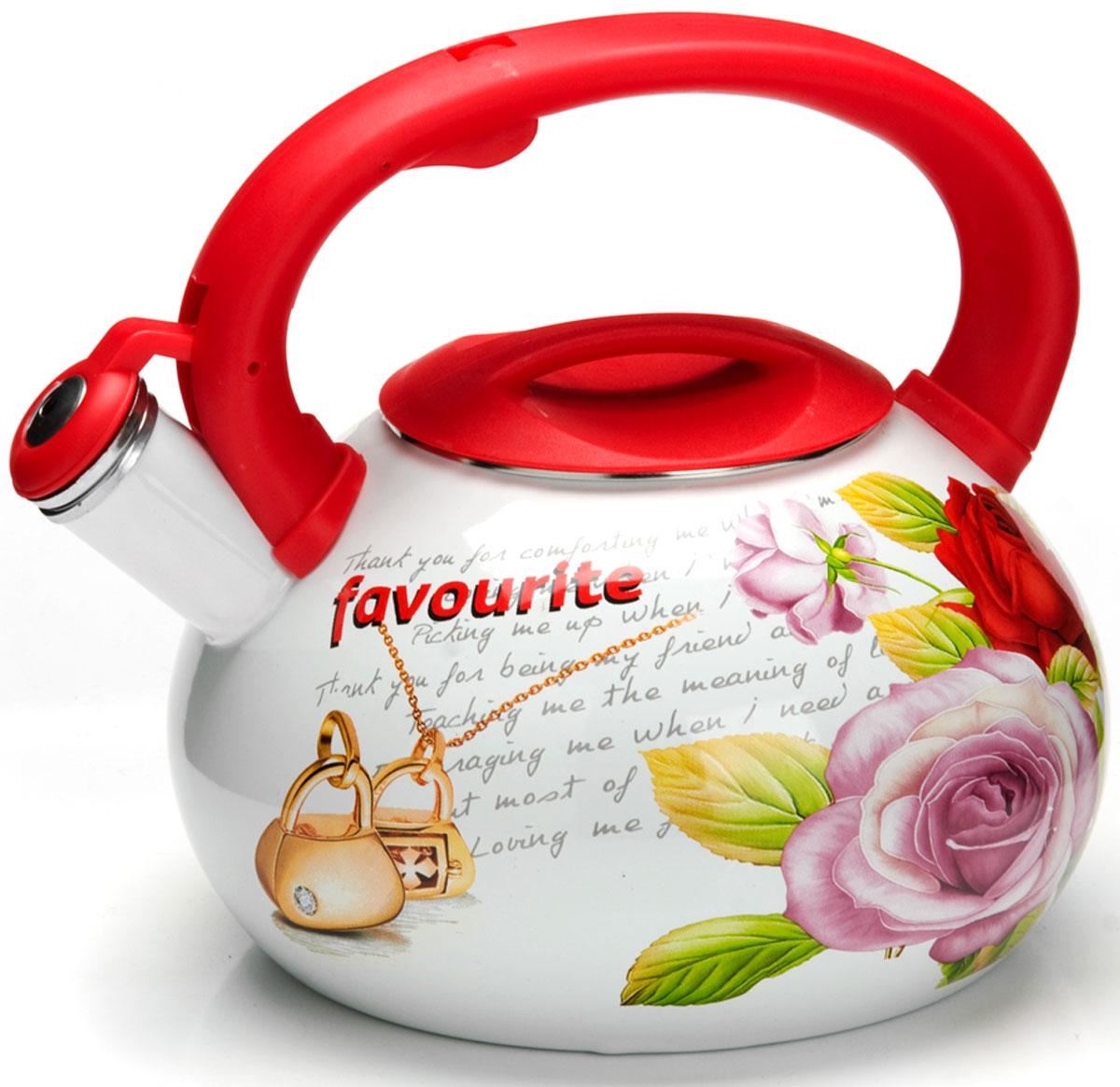Чайник Mayer & Boch Цветы, со свистком, 3 л. 2648726487