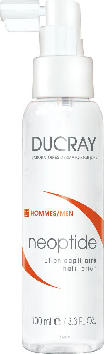 Ducray Лосьон Neoptide от выпадения волос у мужчин, 100 млFS-00897В большинстве случаев хроническое выпадение волос у мужчин обусловлено сочетанием гормонального и наследственного факторов. Прогрессирующая потеря волос сопровождается уменьшениемдлительности цикла развития волоса и изменениями в плотности волосяного стержня. Наступление периода потери волос может варьировать в зависимости от возраста. Применение специализированных средств против выпадения волос помогает замедлить данный процесс.Лосьон НЕОПТИД содержит комбинацию запатентованных активных компонентов, действие которых направлено против механизмов хронического выпадения волос у мужчин:• ПЕПТИДОКСИЛ-4® стимулирует микроциркуляцию волосистой части кожи головы и способствует доставке всех компонентов, необходимых для протекания клеточного метаболизма. • МОНОЛАУРИН способствует снижению активности ключевого фермента, играющего непосредственную роль в процессе выпадения волос у мужчин*.• Запатентованнная комбинация ПЕПТИДОКСИЛ-4® и МОНОЛАУРИНА, разработаннаядерматологическими лабораториями DUCRAY, способствует продлению роста волос и участвует в регуляции сигнала, играющего ключевую роль в обновлении клеток волосяного фолликула.Таким образом, оказывается стимулирующее действие на рост волос, уменьшается выпадение волос и увеличивается их объем. Процесс хронического выпадения волос замедляется**.Благодаря своей легкой текстуре, лосьон от выпадения волос Неоптид легко впитывается и не оставляет жирного блеска. Лосьон имеет высокую переносимость и может использоваться даже у мужчин с чувствительной кожей головы.*Активные ингредиенты протестированы in vitro.** Исследование с 44 участниками, после 3х месяцев применения продукта (1 раз в день). Фототрихограмма.