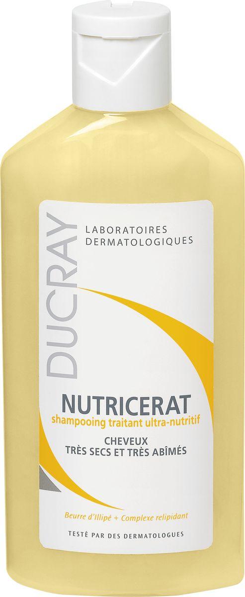 Ducray Сверхпитательный шампунь Nutricerat, 200 мл3078Сверхпитательный шампунь Nutricerat (Нутрицерат) разработан специально для очень сухих и поврежденных волос. Интенсивно питает волосы благодарявходящему состав маслу Иллипа. Шампунь насыщает волосы всеми необходимыми веществами для восстановления волос. Релипидирующий комплекс (натурального происхождения) восстанавливает и защищает волосяной стержень. Очищающая основа шампуня делает Ваши волосы мягкими и блестящими. Шампунь обладает кремовой текстурой и нежным ароматом. Разработан и протестирован под контролем дерматологов. Высокая степень переносимости.