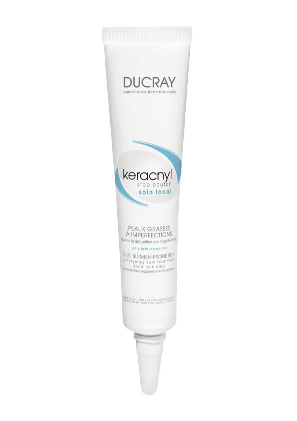 Ducray Стоп-Акне Корректор Keracnyl для проблемной кожи 10млC18623Локальный корректор Keracnyl (Керакнил) «СТОП-АКНЕ» является средством экстренного направленного действия на воспалительные участки кожи. Благодаря оригинальной формуле оказывает подсушивающее и очищающее действие, что способствует быстрому исчезновению воспалительных участков кожи и акне.