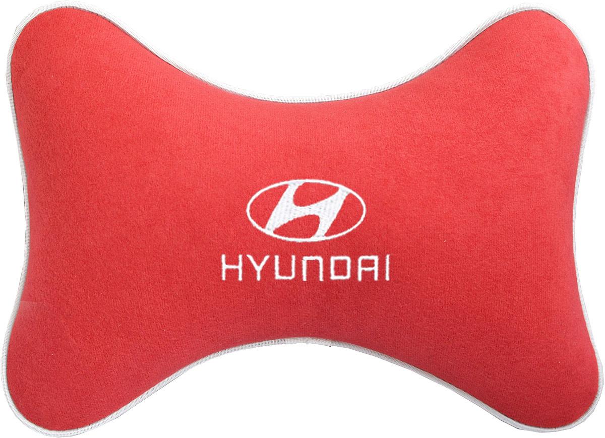 """Подушка на подголовник Auto Premium """"Hyundai """", цвет: красный. 37467"""