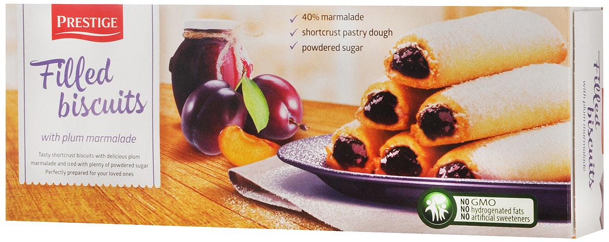 Prestige Бисквитное печенье со сливовой начинкой, 170 г3.58.13Бисквитное печенье Prestige со сливовой начинкой подарит массу удовольствия, зарядит энергией и бодростью с утра и на целый день. Противопоказано при индивидуальной непереносимости к яичному белку и белку молока.