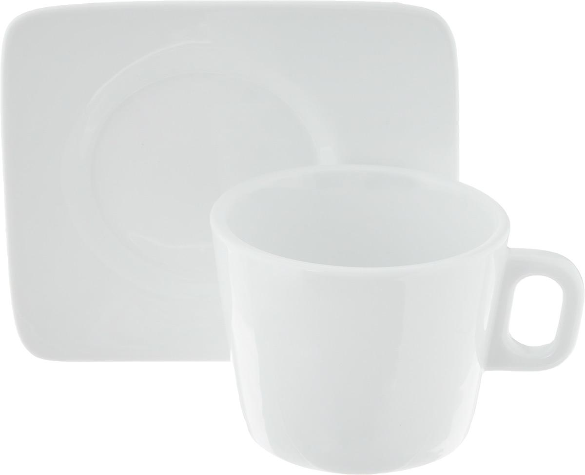 Кофейная пара Tescoma Gustito, 2 предмета115610Кофейная пара Tescoma Gustito состоит из чашки и блюдца. Изделия выполнены из высококачественного фарфора, покрытого слоем глазури. Изделия имеют лаконичный дизайн, просты и функциональны в использовании. Кофейная пара Tescoma Gustito украсит ваш кухонный стол, а также станет замечательным подарком к любому празднику.Изделия можно мыть в посудомоечной машине и ставить в микроволновую печь.Объем чашки: 200 мл.Диаметр чашки (по верхнему краю): 8,5 см.Высота чашки: 6,8 см.Размер блюдца: 12,3 х 12,3 х 1,5 см.