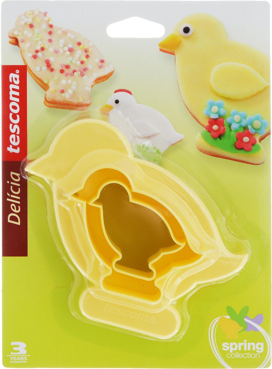 Формы Tescoma Delicia. Цыплята, двусторонние, 4 размера, 2 шт94672Двусторонние формы Tescoma Delicia. Цыплята выполнены из высококачественного пластика в виде забавных цыплят. В комплект входят две формы. Формы отлично подходят для приготовления печенья и имеют 4 разных размера. Можно мыть в посудомоечной машине. Размер форм: 12 х 11,5 см; 8,5 х 8 см; 7 х 7 см; 5 х 5 см.