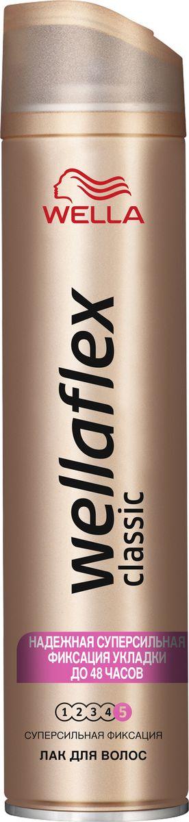 Wellaflex Лак для волос Classic суперсильной фиксации 250 млWF-81584343ЛАК ДЛЯ ВОЛОС WELLAFLEX СУПЕРСИЛЬНОЙ ФИКСАЦИИ с технологией Гибкой Фиксации TM Лак для волос Wellaflex суперсильной фиксации обеспечивает идеальную естественную укладку с улучшенной фиксацией, которая держится до 24 часов. Он быстро высыхает, не пересушивая волосы, легко удаляется при расчесывании и защищает волосы от воздействия солнечных лучей.