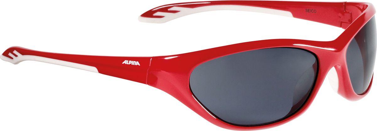 Очки солнцезащитные Alpina Seico, цвет: красный, белый. 8444451RivaCase 7560 redДетские солнцезащитные очки Alpina Seico предназначены как для езды на велосипеде, так и для многих других видов спорта.Прорезиненная гибкая перегородка для носа обеспечивает надежную фиксацию, а высококачественные линзы с ударопрочным керамическим покрытием защищают от ультрафиолетового излучения. Степень защиты: S3.