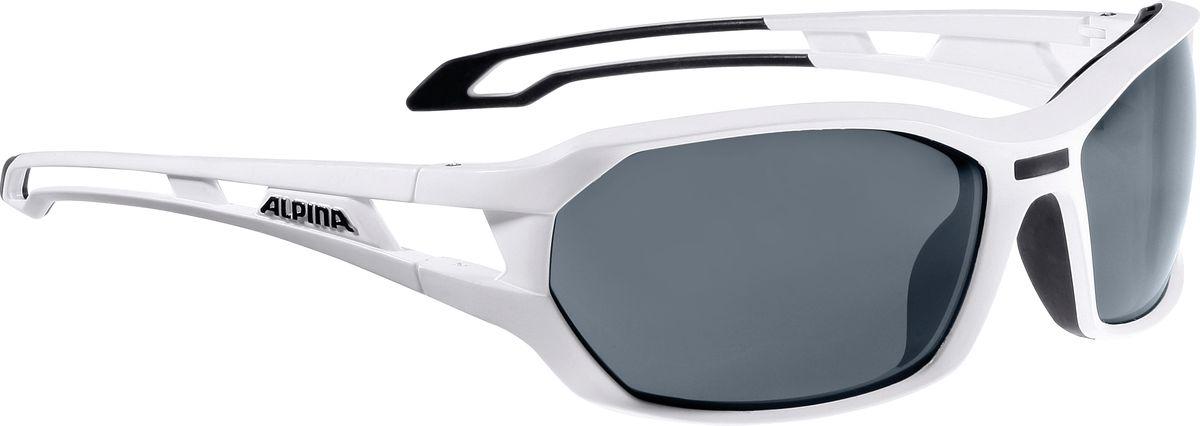 Очки солнцезащитные Alpina Berryn P, цвет: белый, черный. 85675108567510Велосипедистам придется по вкусу модель солнцезащитных очков - Alpina BERRYN. Поляризованные линзы обеспечивают хорошую защиту от яркого солнца, в отличие от обычных солнцезащитных очков. Прорезиненные дужки и инновационная форма оправы делает очки спортивными, стильными и универсальные.