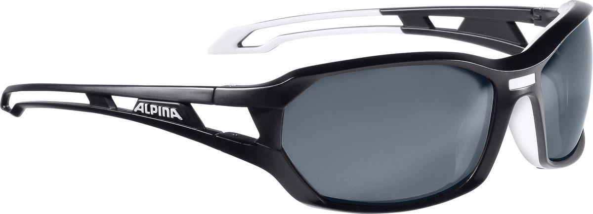 Очки солнцезащитные Alpina Berryn P, цвет: белый, черный. 85675316056Солнцезащитные очкиAlpina Berryn P предназначены как для езды на велосипеде, так и для многих других видов спорта. Поляризованные линзы обеспечивают хорошую защиту от яркого солнца, в отличие от обычных солнцезащитных очков. Прорезиненные дужки и инновационная форма оправы делает очки спортивными, стильными и универсальными.