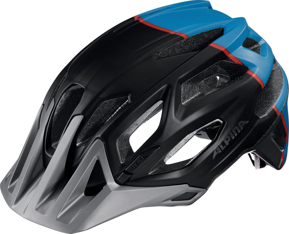 Шлем летний Alpina Garbanzo, цвет: синий, черный. A9700121. Размер 53/57A9700121Легкий и аэродинамичный дизайн. Углубленная затылочная часть. Улучшенная система вентиляционных отверстий. Защитная сетка в передней части. Светоотражающие элементы. Система Run Ergo System Pro для регулировки и подгонки шлема по размеру.