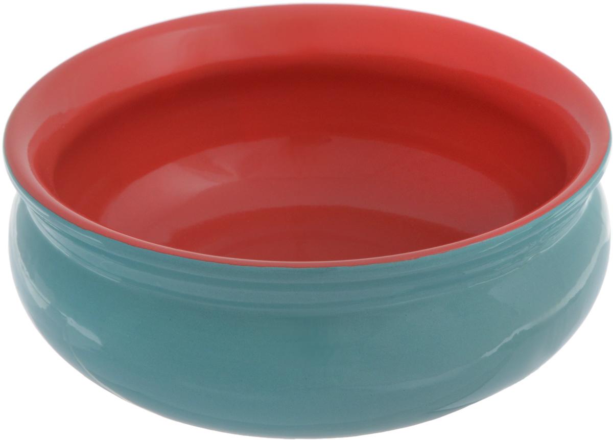 Тарелка глубокая Борисовская керамика Скифская, цвет: бирюзовый, красный, 500 млVT-1520(SR)Глубокая тарелка Борисовская керамика Скифская выполнена из керамики. Изделие сочетает в себе изысканный дизайн с максимальной функциональностью. Она прекрасно впишется в интерьер вашей кухни и станет достойным дополнением к кухонному инвентарю. Такая тарелка подчеркнет прекрасный вкус хозяйки и станет отличным подарком. Можно использовать в духовке и микроволновой печи.Диаметр тарелки (по верхнему краю): 14 см.Объем: 500 мл.