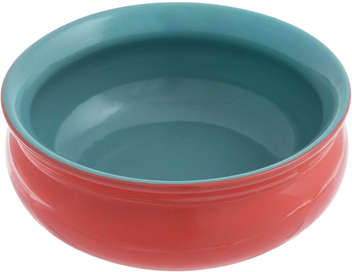 Тарелка глубокая Борисовская керамика Скифская, цвет: красный, бирюзовый, 500 мл115510Глубокая тарелка Борисовская керамика Скифская выполнена из керамики. Изделие сочетает в себе изысканный дизайн с максимальной функциональностью. Она прекрасно впишется в интерьер вашей кухни и станет достойным дополнением к кухонному инвентарю. Такая тарелка подчеркнет прекрасный вкус хозяйки и станет отличным подарком. Можно использовать в духовке и микроволновой печи.Диаметр тарелки (по верхнему краю): 14 см.Объем: 500 мл.