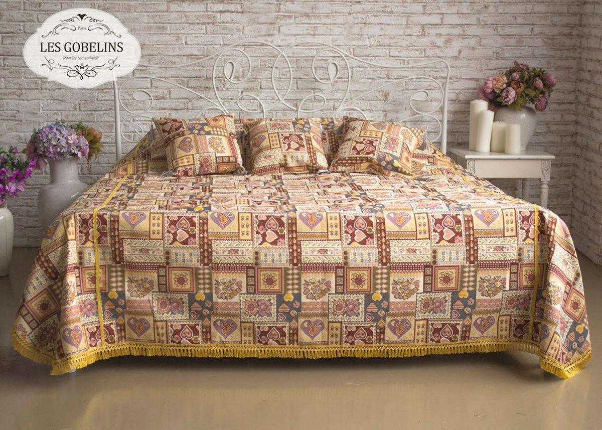 Покрывало на кровать Les Gobelins Coeurs Espagnol, 240 х 220 см96515412Покрывало на кровать Les Gobelins Coeurs Espagnol с ярким рисунком привлечет к себе внимание и органично впишется в интерьер комнаты. Изделие изготовлено из высококачественной ткани гобелен и оформлено бахромой и кисточками. Необычайная красота сочетается в этом покрывале с высокой прочностью и долговечностью, а свойство гобелена по-разному проявлять себя в зависимости от освещения помещения позволяет открывать все новые и новые детали, которые, как казалось, раньше скрывал гобелен.Красочное и приятное на ощупь покрывало сделает интерьер спальни, детской или гостиной уютнее и своеобразнее. Состав материала: 52% хлопок, 48% полиэстер.